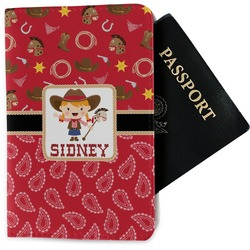 Red Western Passport Holder - Fabric (Personalized)