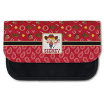 Red Western Canvas Pencil Case w/ Name or Text