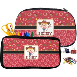 Red Western Pencil / School Supplies Bag (Personalized)