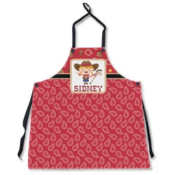 Red Western Apron Without Pockets w/ Name or Text