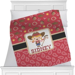 Red Western Minky Blanket (Personalized)