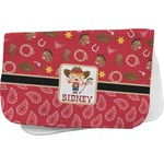 Red Western Burp Cloth (Personalized)