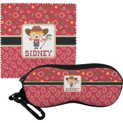 Red Western Eyeglass Case & Cloth (Personalized)