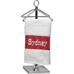 Red Western Finger Tip Towel (Personalized)