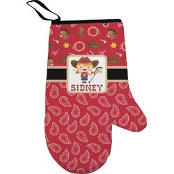 Red Western Oven Mitt (Personalized)