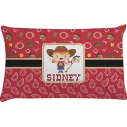 Red Western Pillow Case (Personalized)