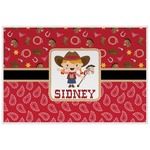 Red Western Laminated Placemat w/ Name or Text