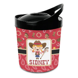 Red Western Plastic Ice Bucket (Personalized)