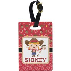 Red Western Rectangular Luggage Tag (Personalized)