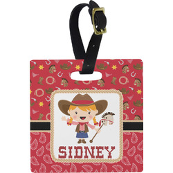 Red Western Luggage Tags (Personalized)