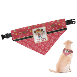 Red Western Dog Bandana - Small (Personalized)