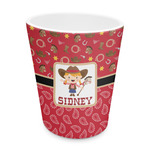 Red Western Plastic Tumbler 6oz (Personalized)
