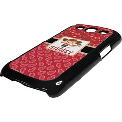 Red Western Plastic Samsung Galaxy 3 Phone Case (Personalized)