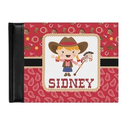 Red Western Genuine Leather Guest Book (Personalized)