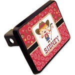"""Red Western Rectangular Trailer Hitch Cover - 2"""" (Personalized)"""