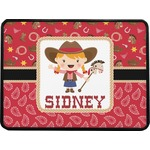 Red Western Rectangular Trailer Hitch Cover (Personalized)