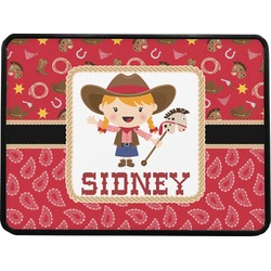 """Red Western Rectangular Trailer Hitch Cover - 1.25"""" (Personalized)"""