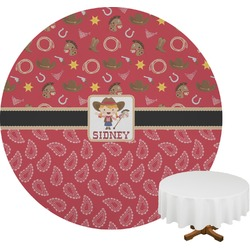 Red Western Round Tablecloth (Personalized)