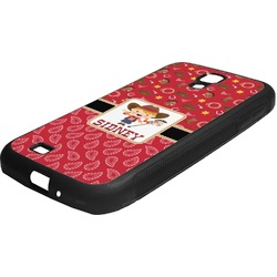 Red Western Rubber Samsung Galaxy 4 Phone Case (Personalized)