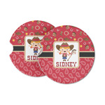 Red Western Sandstone Car Coasters (Personalized)