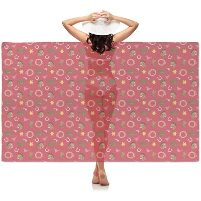 Red Western Sheer Sarong (Personalized)
