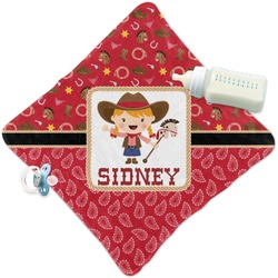 Red Western Security Blanket (Personalized)