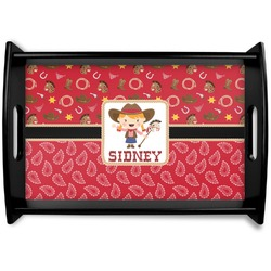Red Western Wooden Trays (Personalized)