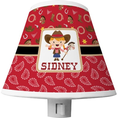 Red Western Shade Night Light (Personalized)