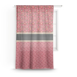 Red Western Sheer Curtains (Personalized)
