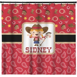 Red Western Shower Curtain (Personalized)