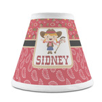 Red Western Chandelier Lamp Shade (Personalized)