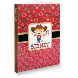 Red Western Softbound Notebook (Personalized)