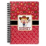 Red Western Spiral Bound Notebook (Personalized)