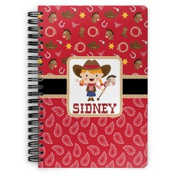 Red Western Spiral Notebook (Personalized)