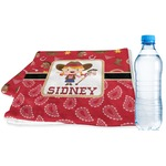 Red Western Sports & Fitness Towel (Personalized)