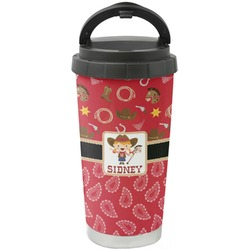 Red Western Stainless Steel Coffee Tumbler (Personalized)