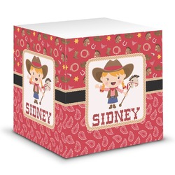 Red Western Sticky Note Cube (Personalized)