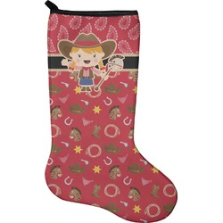 Red Western Christmas Stocking - Neoprene (Personalized)