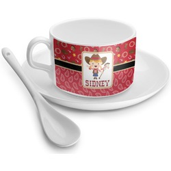 Red Western Tea Cups (Personalized)