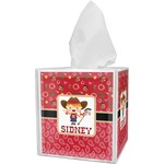 Red Western Tissue Box Cover (Personalized)