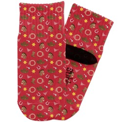 Red Western Toddler Ankle Socks (Personalized)