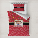 Red Western Toddler Bedding w/ Name or Text