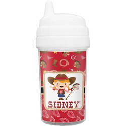 Red Western Toddler Sippy Cup (Personalized)