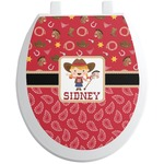 Red Western Toilet Seat Decal (Personalized)
