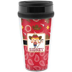 Red Western Travel Mugs (Personalized)
