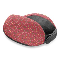 Red Western Travel Neck Pillow