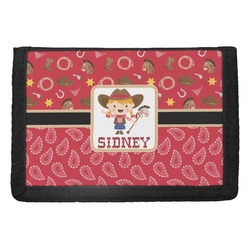 Red Western Trifold Wallet (Personalized)