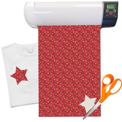 "Red Western Heat Transfer Vinyl Sheet (12""x18"")"