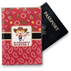 Red Western Vinyl Passport Holder (Personalized)