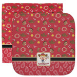 Red Western Facecloth / Wash Cloth (Personalized)